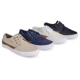 Fabric Sneakers Casual Y010 Blue navy 6