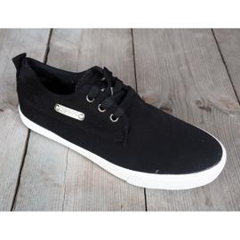 Fabric Sneakers Casual Y011 Black 1