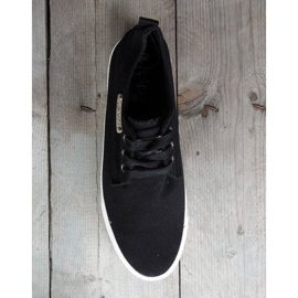 Fabric Sneakers Casual Y011 Black 2