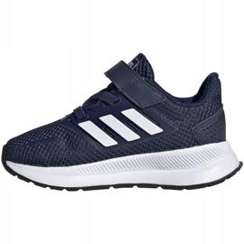 Adidas Runfalcon I Jr EG6153 shoes white navy 2
