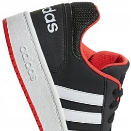 Adidas Hoops 2.0 Jr B76067 shoes black red 1