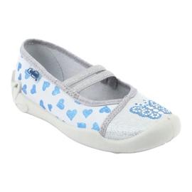 Befado hearts children's shoes 116X267 blue grey 1