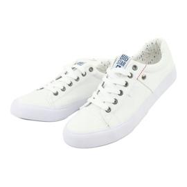 Big Star Men's sneakers tied white 174097 2