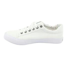 Big Star Men's sneakers tied white 174097 1
