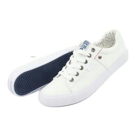 Big Star Men's sneakers tied white 174097 4