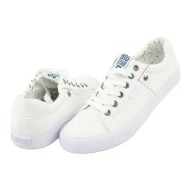 Big Star Men's sneakers tied white 174097 3