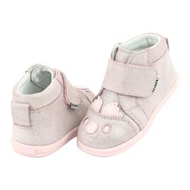 Velcro booties Koala Bartek 71150 pink grey 4