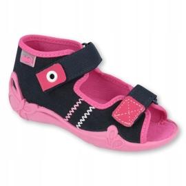 Befado children's shoes 242P056 navy pink 2