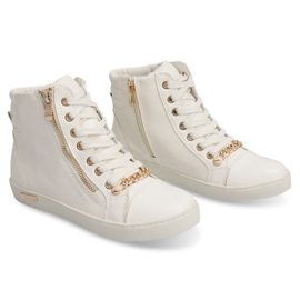 High Sneakers With A Slider Y406 White 3