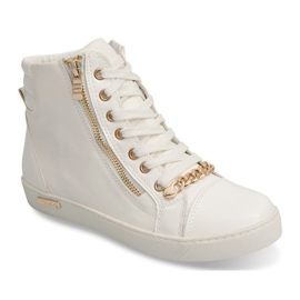 High Sneakers With A Slider Y406 White 5