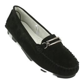 Moccasins made of suede leather Filippo DP 1202 black 1