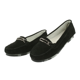 Moccasins made of suede leather Filippo DP 1202 black 3