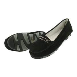 Moccasins made of suede leather Filippo DP 1202 black 5