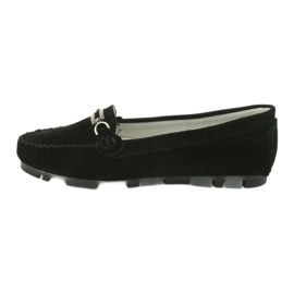 Moccasins made of suede leather Filippo DP 1202 black 2