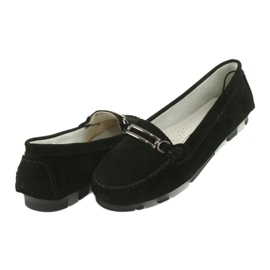Moccasins made of suede leather Filippo DP 1202 black 4