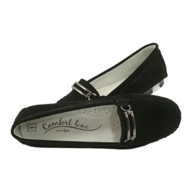 Moccasins made of suede leather Filippo DP 1202 black 6