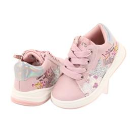 Girls' sports shoes star American Club GC15 pink grey 4