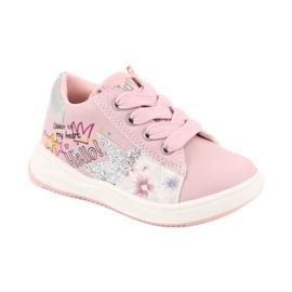Girls' sports shoes star American Club GC15 pink grey 1