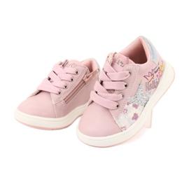 Girls' sports shoes star American Club GC15 pink grey 3