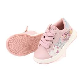 Girls' sports shoes star American Club GC15 pink grey 5