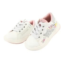 Girls' sports shoes star American Club GC15 white grey 3