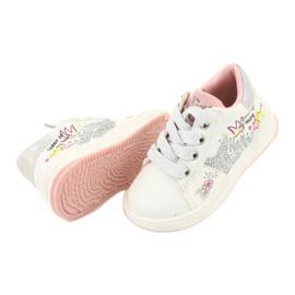 Girls' sports shoes star American Club GC15 white grey 5