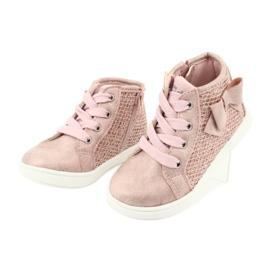 American Club girls' sports shoes GC17 pink 3