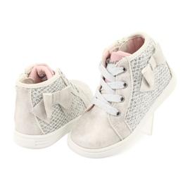 American Club girls' sports shoes GC17 white grey 4