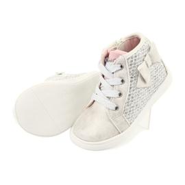 American Club girls' sports shoes GC17 white grey 5