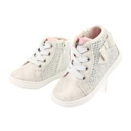 American Club girls' sports shoes GC17 white grey 3