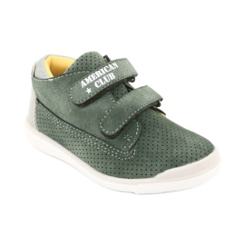 American Club GC22 Velcro shoes grey green 1