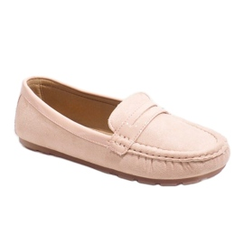 Pink moccasins with FM2958-3 buckle 1