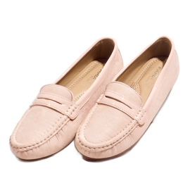 Pink moccasins with FM2958-3 buckle 2