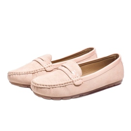 Pink moccasins with FM2958-3 buckle 3