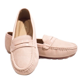 Pink moccasins with FM2958-3 buckle 4