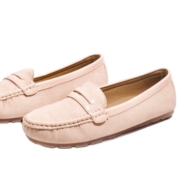 Pink moccasins with FM2958-3 buckle 5