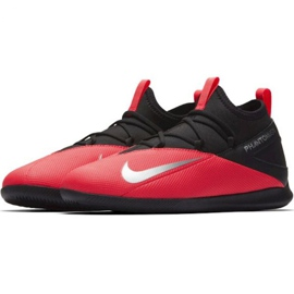 Indoor shoes Nike Phantom Vsn 2 Club Df Ic Jr CD4072-606 red black 3