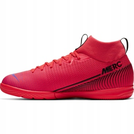 Nike Mercurial Superfly 7 Academy Ic Jr AT8135-606 indoor shoes red red 4