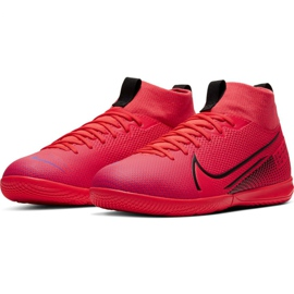 Nike Mercurial Superfly 7 Academy Ic Jr AT8135-606 indoor shoes red red 5
