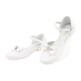 Miko white children's communion ballerinas yellow 3