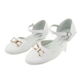 Pumps communion ballerinas Miko 707 white 3