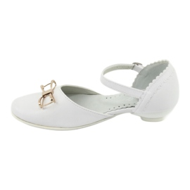 Pumps communion ballerinas Miko 707 white 2