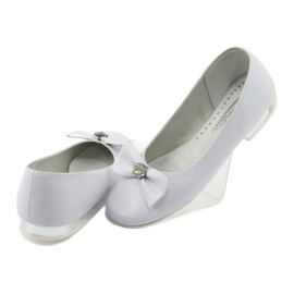 Pumps communion ballerinas white Miko 800 4