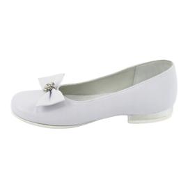 Pumps communion ballerinas white Miko 800 2