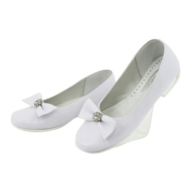 Pumps communion ballerinas white Miko 800 3