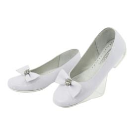 Pumps communion ballerinas white Miko 800 3