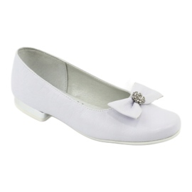 Pumps communion ballerinas white Miko 800 1