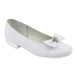 Pumps communion ballerinas white Miko 800 1