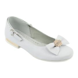 Miko white children's communion ballerinas yellow 1