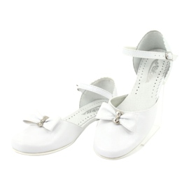 Courtesy ballerinas Communion Miko 671 white 3